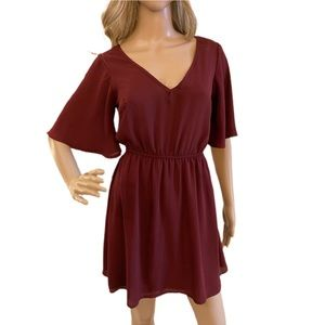 Charlotte Russe Burgundy Dress, XS extra small